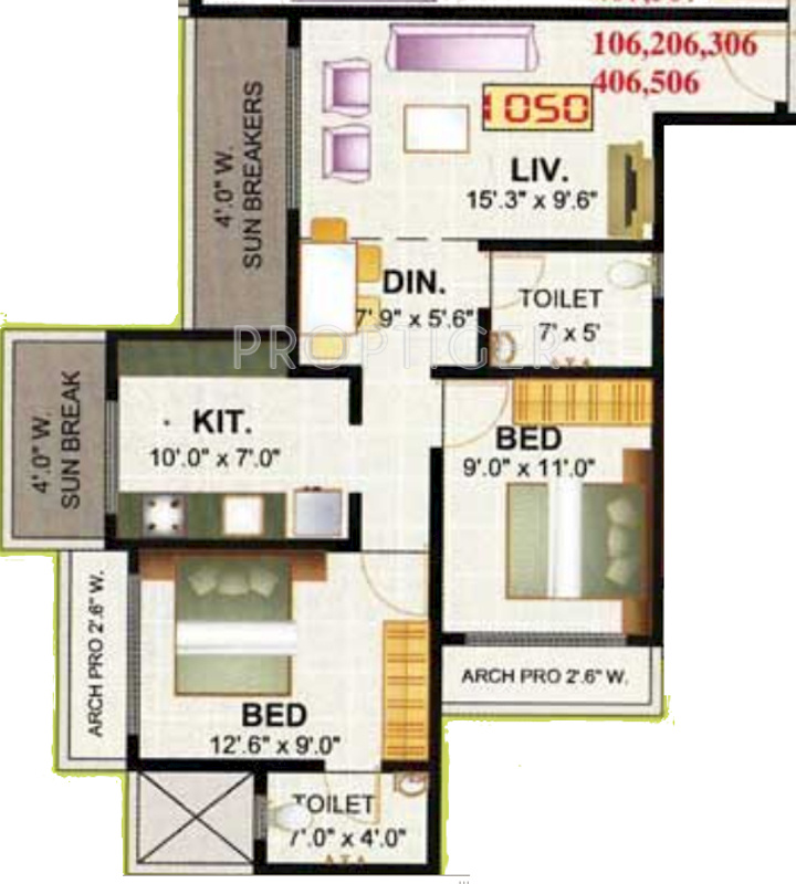 1050 sq ft 2 bhk 2t apartment for sale in shree ayappa for 1050 sq ft floor plans