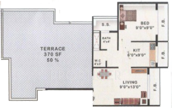 770 Sq Ft 1 Bhk 1t Apartment For Sale In Fortune