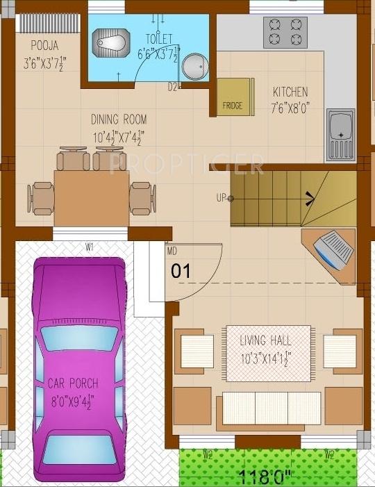 1500 sq ft 2 bhk 3t villa for sale in visoka magha pammal for 4 bhk house plan ground floor