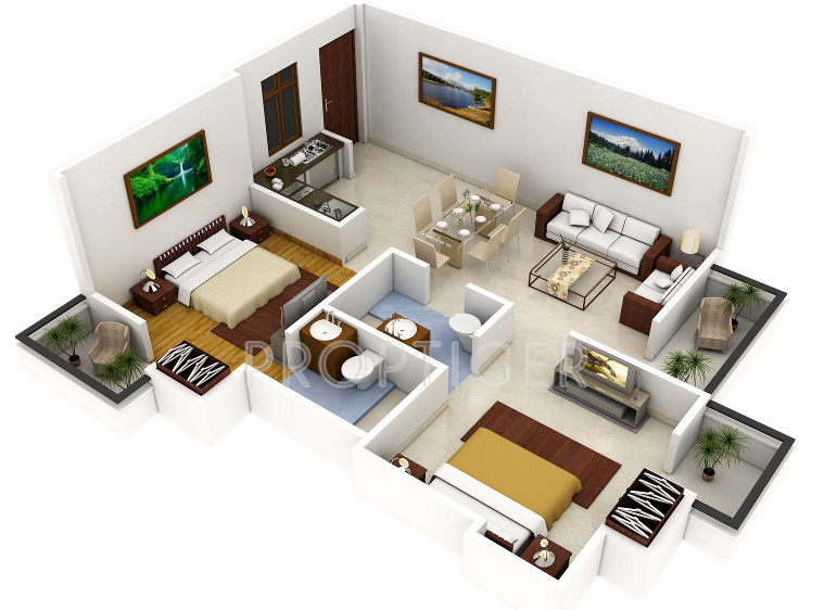 1100 Sq Ft 2 Bhk Floor Plan Image Realty Worlds Best Homes