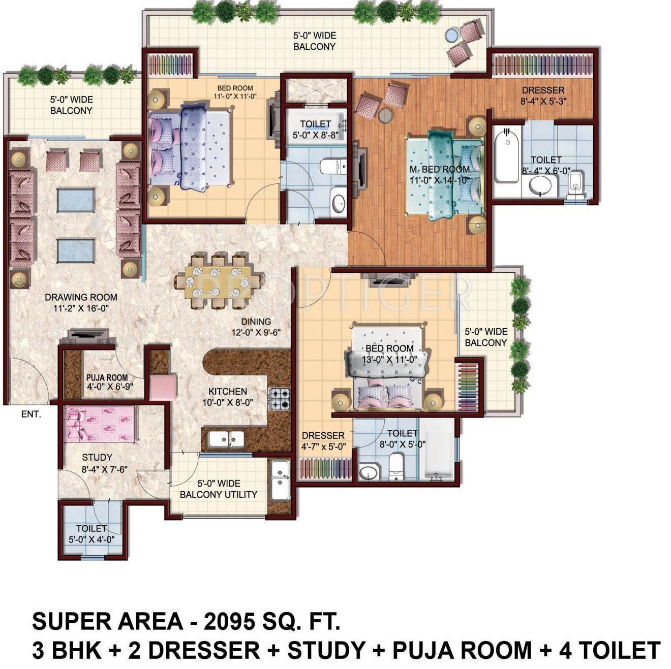 Urbainia grid 1 in sector 25 yamuna express way noida Room layout grid