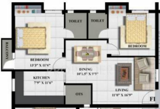 1050 sq ft 2 bhk 2t apartment for sale in aditi for 1050 sq ft floor plans