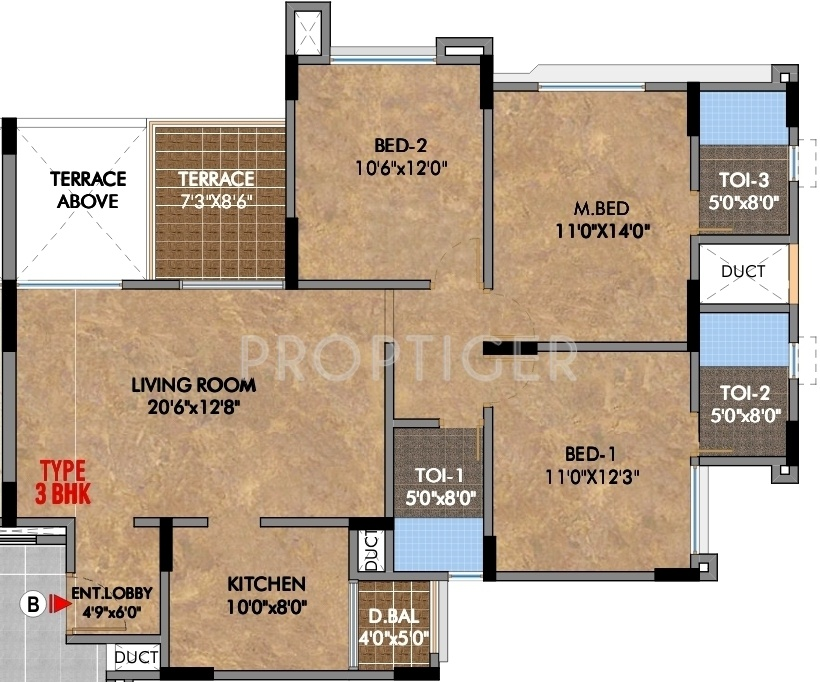 1400 sq ft 3 bhk 3t apartment for sale in pride housing for 1400 sq ft