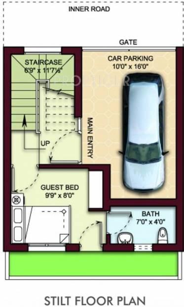 MGP Blooom Villa (3BHK+4T (1,400 sq ft) 1400 sq ft)