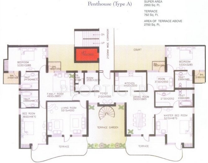 Skyline The Grand Forte (4BHK+4T (2,950 sq ft) 2950 sq ft)