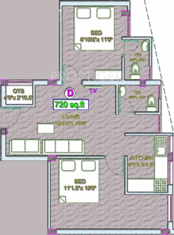 720 sq ft 2 bhk 2t apartment for sale in vgp selva nagar for 720 sq ft apartment floor plan
