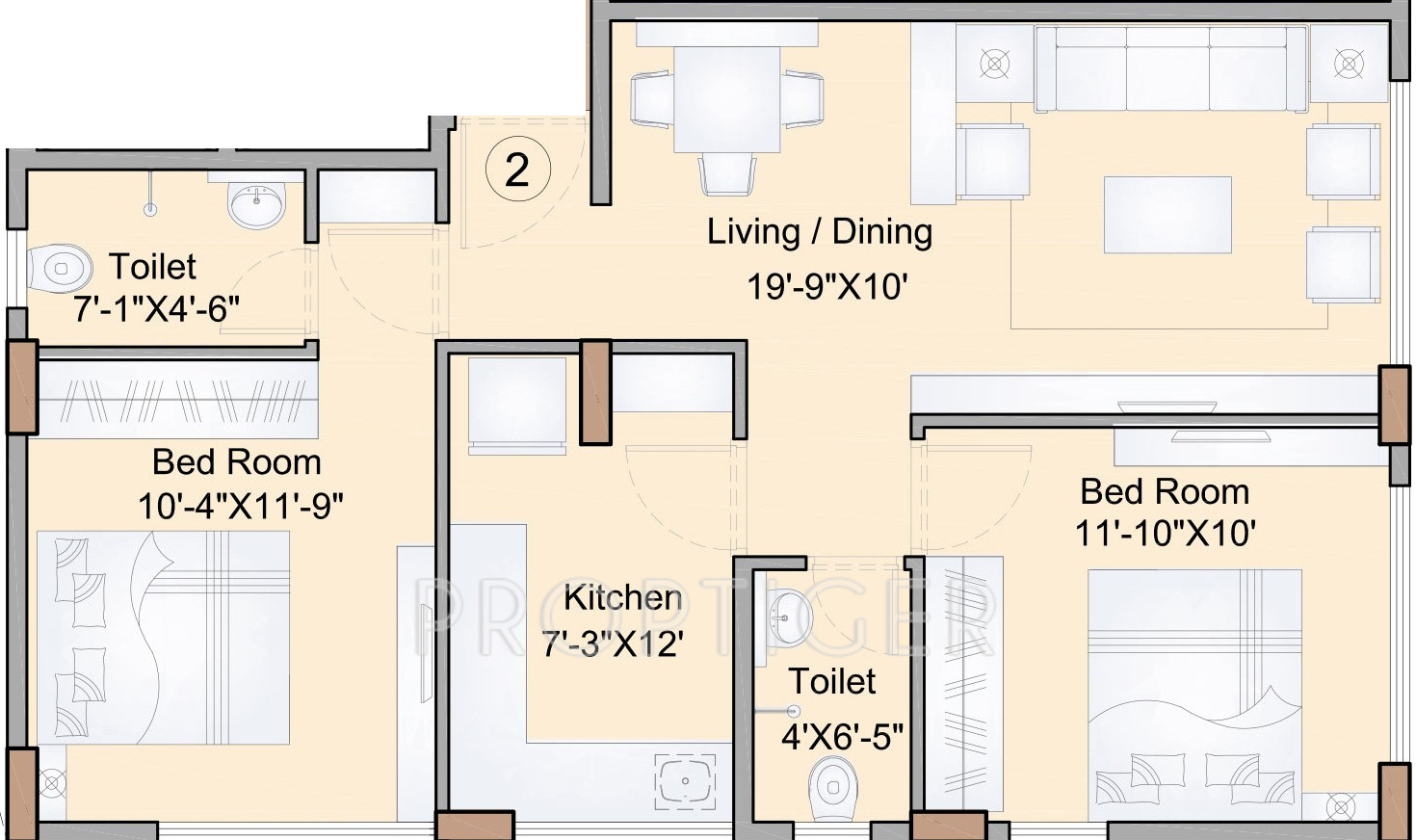 Floor plan for 1200 sq ft apartment for Apartment plans 1200 sq ft