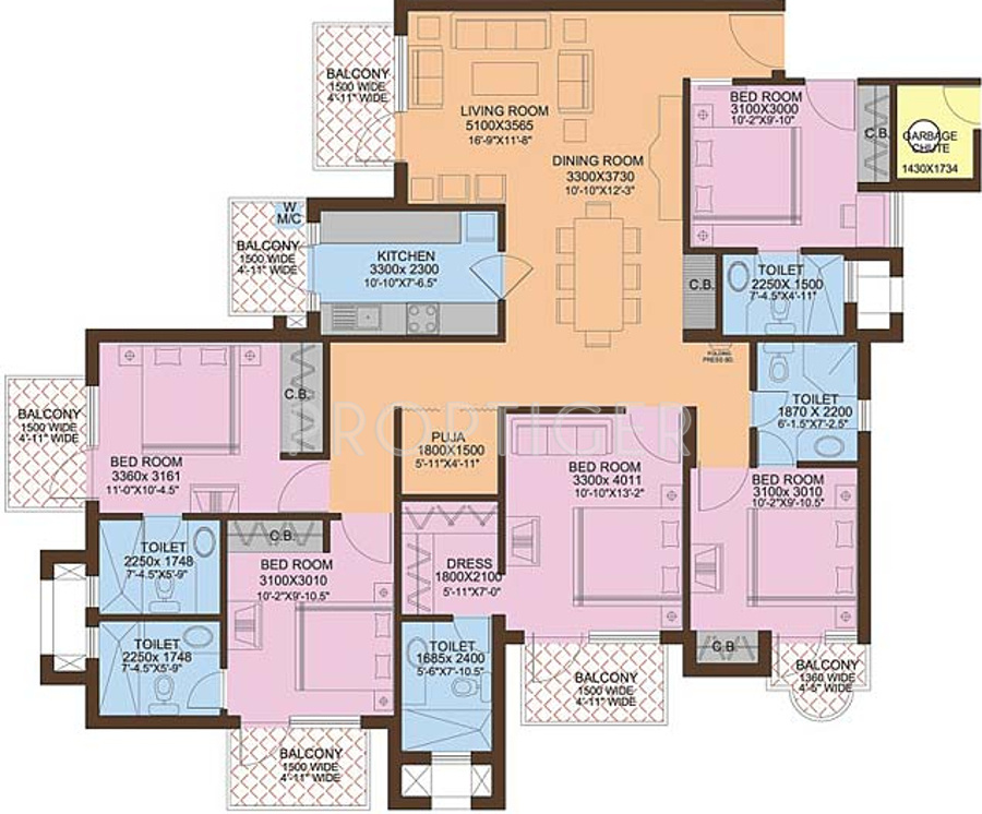 3000 sq ft 5 bhk 5t apartment for sale in ansal api valley for Apartment floor plans 3000 sq ft