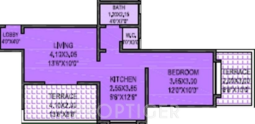 576 sq ft 1 bhk 1t apartment for sale in shree raj damodar for 576 sq ft floor plan