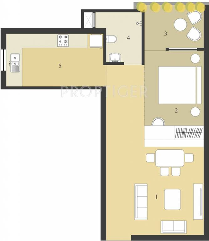 788 Sq Ft 1 Bhk 1t Apartment For Sale In Neoteric Orchid