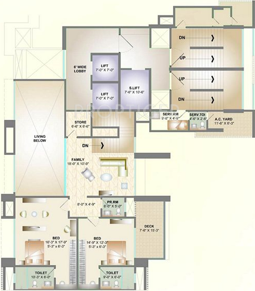 Golfview Apartments: 5479 Sq Ft 4 BHK 6T Apartment For Sale In DB Orchid Golf