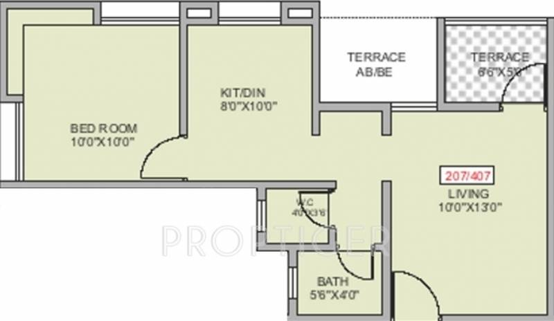 540 sq ft 1 bhk floor plan image ws developers srushti