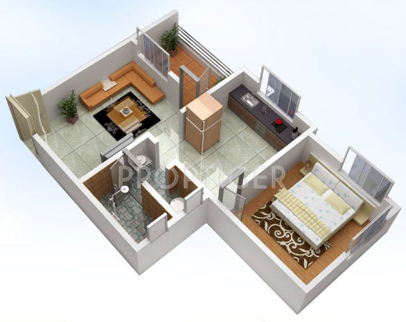 550 sq ft 1 bhk 1t apartment for sale in ozone homes westend talegaon dabhade pune. Black Bedroom Furniture Sets. Home Design Ideas