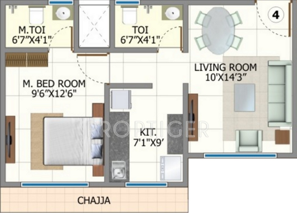 720 sq ft 1 bhk 2t apartments in shree riddhi siddhi for 720 sq ft apartment floor plan