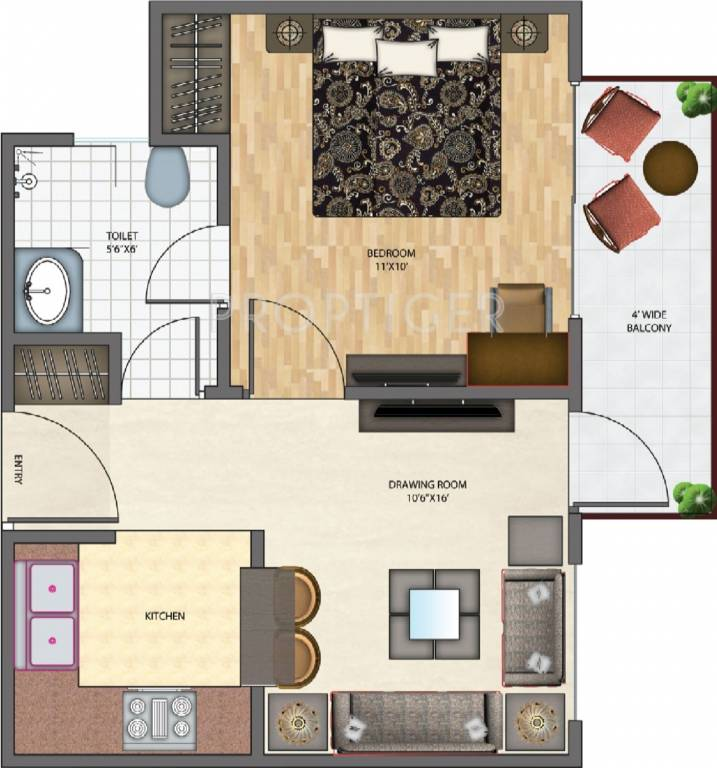 550 sq ft 1 bhk 1t apartment for sale in brys indihomz sector 10 noida extension greater noida. Black Bedroom Furniture Sets. Home Design Ideas