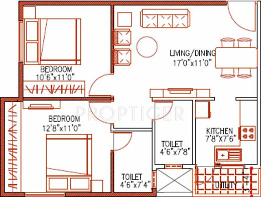 900 sq ft 2 bhk 2t apartment for sale in jaithra homes for 900 sq ft apartment floor plan