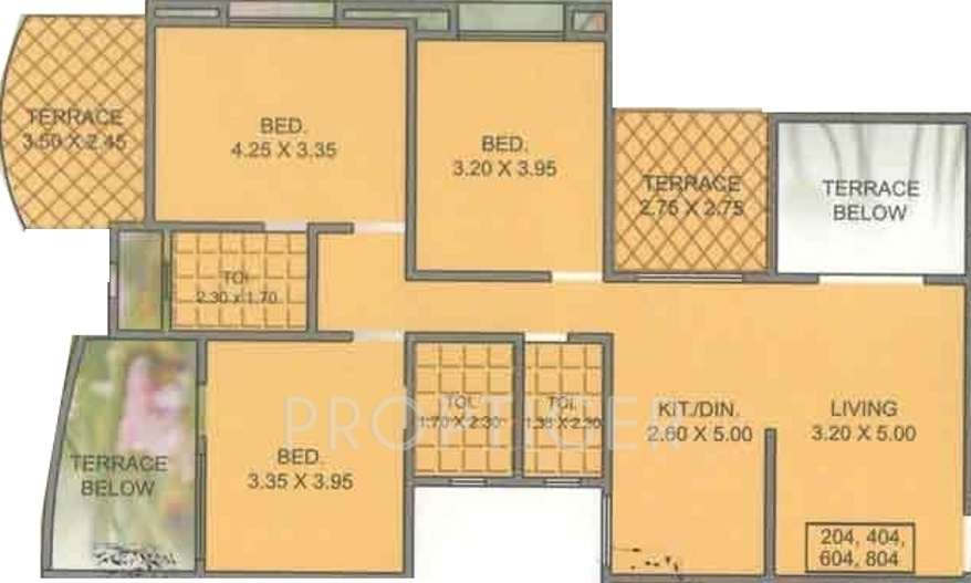 1450 Sq Ft 3 Bhk 3t Apartment For Sale In M Vijay Spring