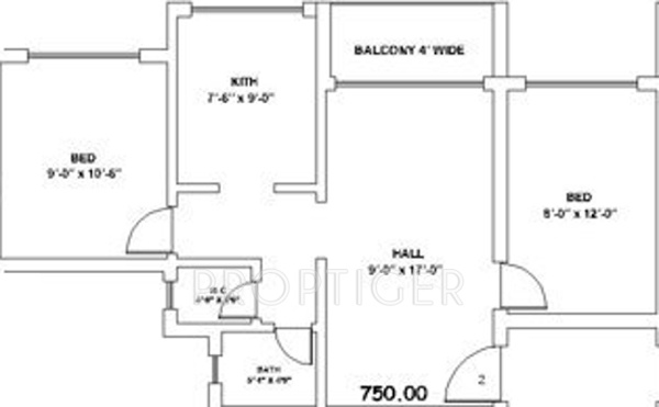 750 sq ft apartment floor plan home design for Floor plans 750 square feet