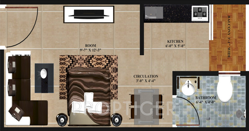 375 sq ft 1 bhk 1t apartment for sale in advetaya construction godwin apartments sector 110 noida