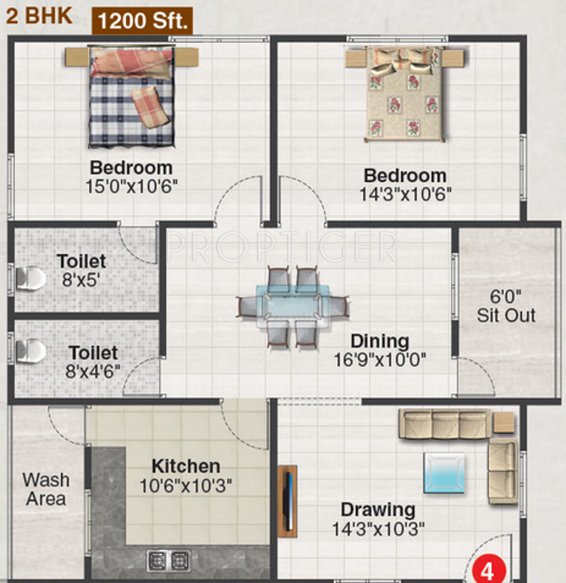 1200 sq ft 2 bhk 2t apartment for sale in shreya homes for Apartment plans 1200 sq ft