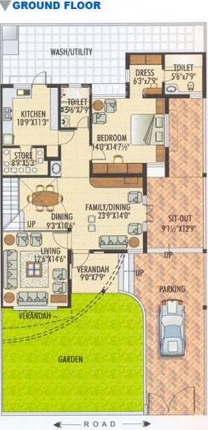 4 bhk floor plan image karni banshi roop rajat township for 4 bhk house plan ground floor