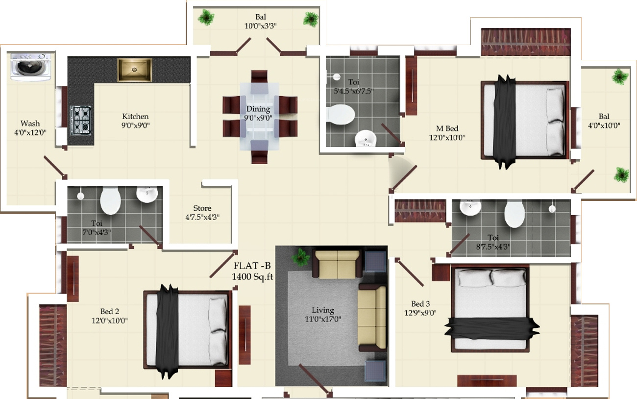 1400 sq ft 3 bhk 3t apartment for sale in india the temple 1400 sq ft 3 bhk 3t apartment in india the temple tellurian