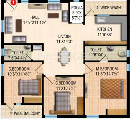 1100 sq ft 2 bhk 2t apartment for sale in rv developers for 12 by 12 room sq ft