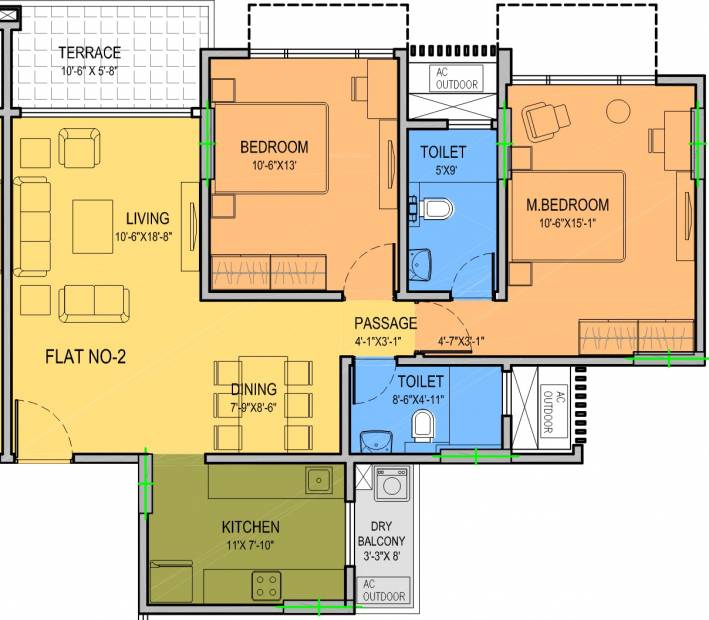 Kohinoor City (3BHK+4T (2,251 sq ft) 2251 sq ft)