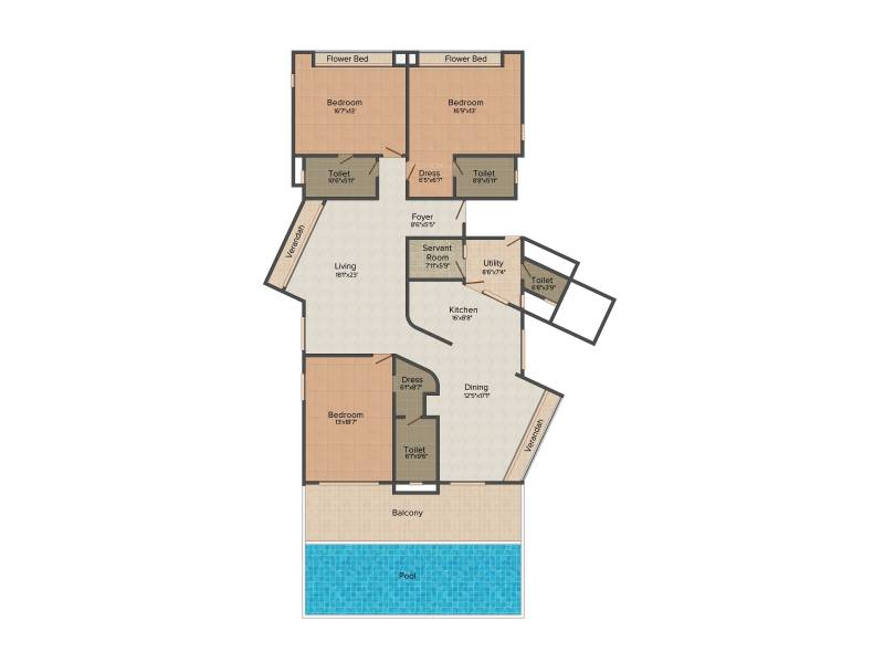 Olympia Reflection Sky Homes (3BHK+4T (3,600 sq ft)   Servant Room 3600 sq ft)