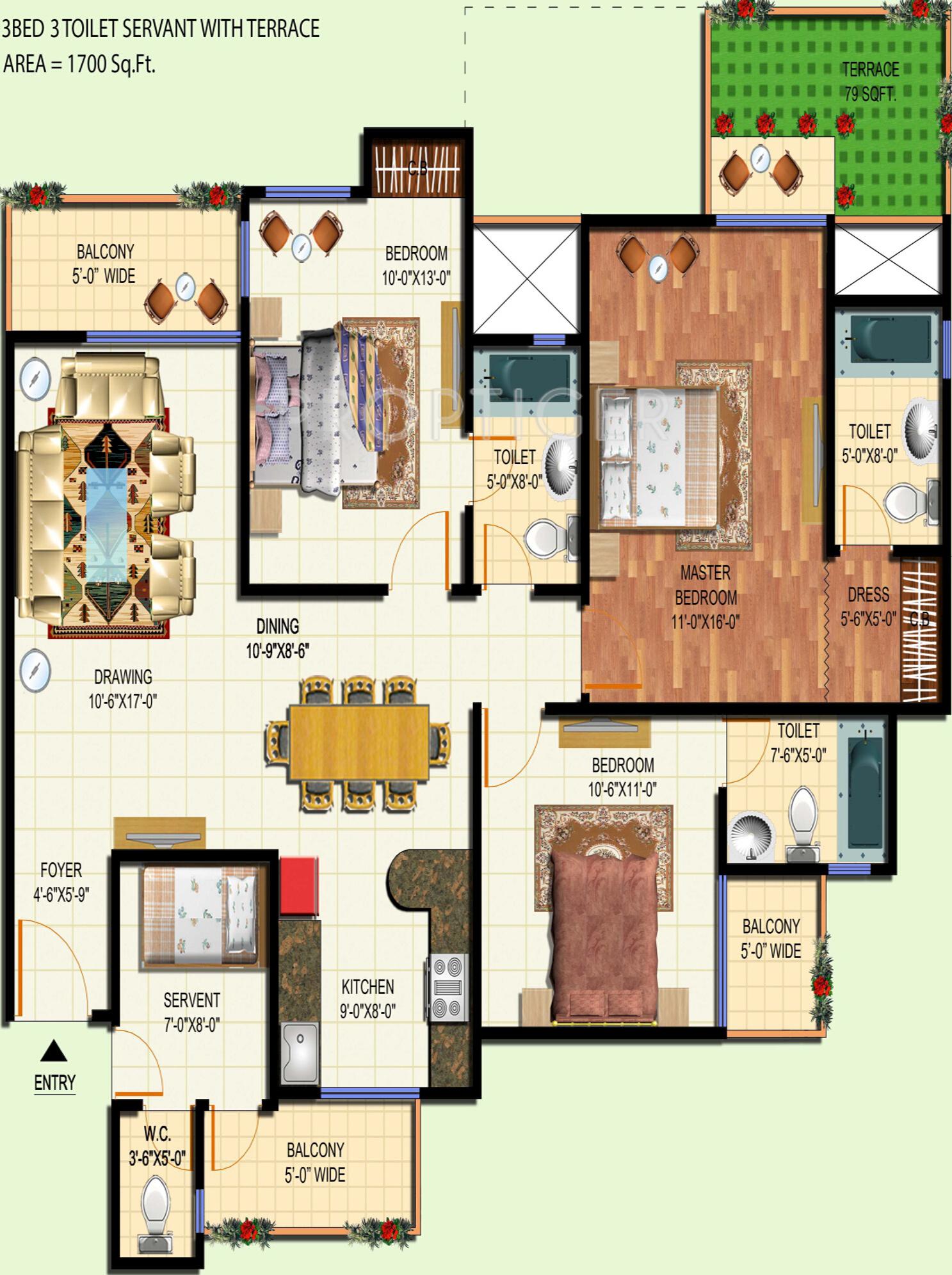 100 540 Sq Ft Floor Plan Craftsman House Designs