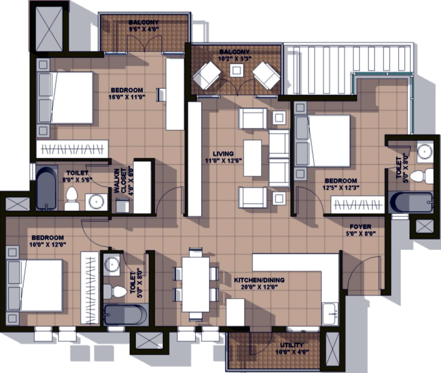 1800 sq ft 3 bhk 3t apartment for sale in ardente wind for Windsong project floor plan