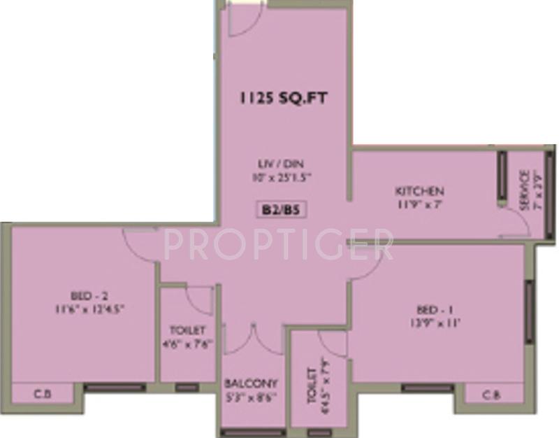 1125 sq ft 2 bhk 2t apartment for sale in mahalakshmi for 1125 sq ft floor plan