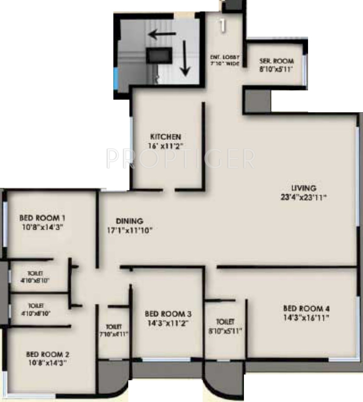 3410 sq ft 4 bhk 4t apartment for sale in neelkanth the Regent heights floor plan
