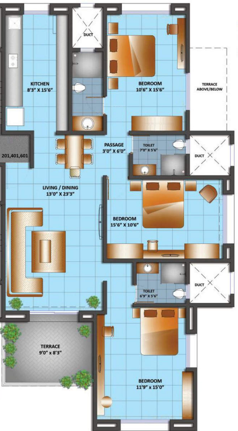 Grafikon collina casa in bibwewadi pune price location for Casa floor