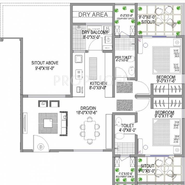 1020 Sq Ft 2 Bhk 2t Apartment For Sale In Lunkad 150