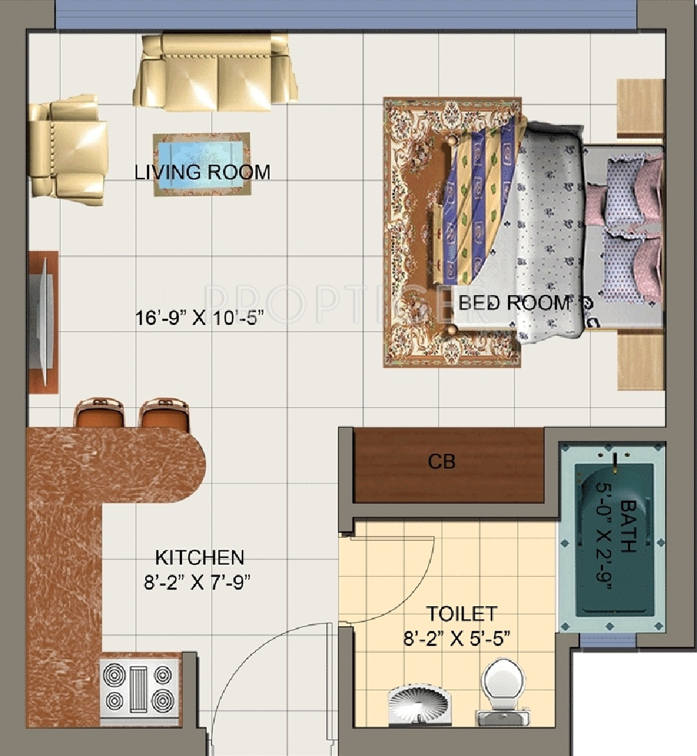 575 sq ft 1 bhk 1t apartment for sale in nirala india for 1 bhk floor plans india