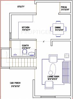 1000 sq ft 2 bhk 2t villa for sale in g9 spacious for 1000 sq ft apartment plans