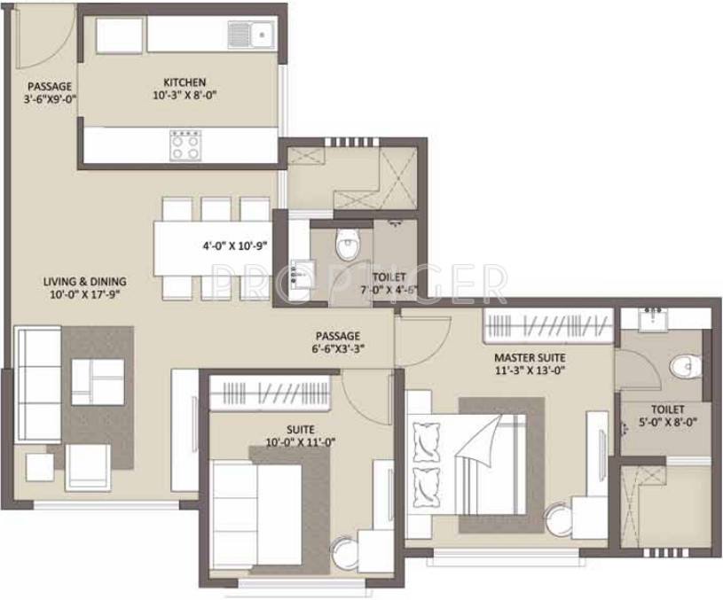 1150 Sq Ft 2 Bhk 2t Apartment For Sale In Ariisto Bellanza