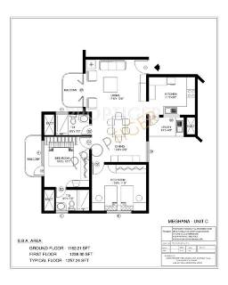 1257 Sq Ft 2 Bhk Floor Plan Image Acs Developers Acs Meghana And Shalini Towers Available For Sale Proptiger Com