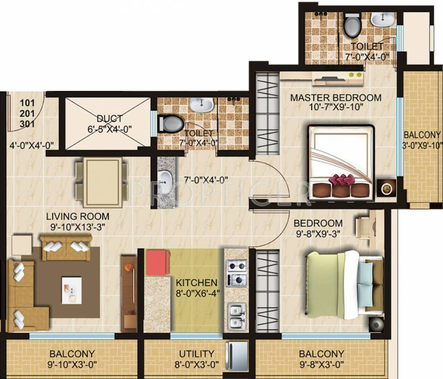850 sq ft 2 bhk 2t apartment for sale in kiron group for Sq 850