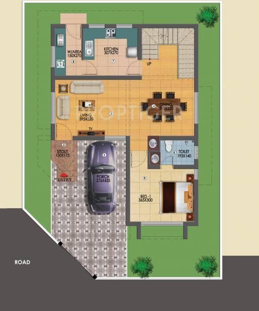 Chevron East Wind Villas (3BHK+3T (1,714 sq ft) 1714 sq ft)