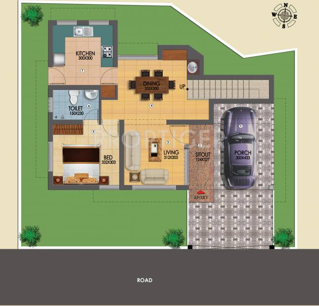 Chevron East Wind Villas (3BHK+3T (1,537 sq ft) 1537 sq ft)