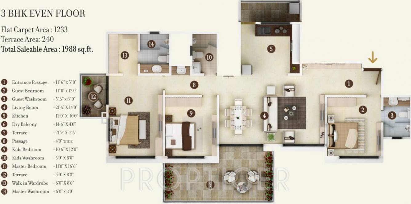 1268 sq ft 2 bhk 2t apartment for sale in kolte patil 24k jazz pimple nilakh pune - Modernbedroombathroom house plans ...