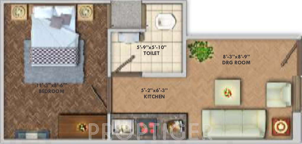 300 Sq Ft Apartment Floor Plan: 300 Sq Ft 1 BHK 1T Apartment For Sale In Deswal Shivalik
