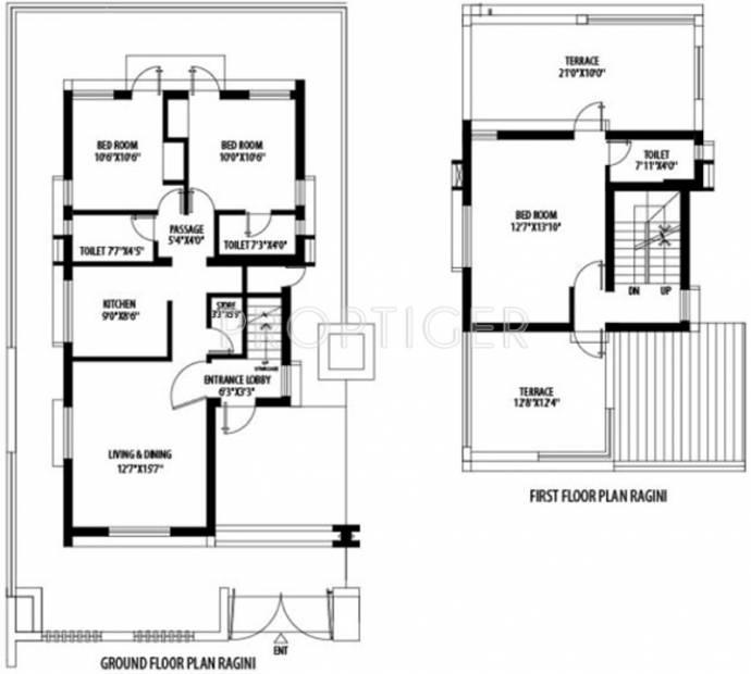 1325 Sq Ft 3 Bhk Floor Plan Image Shrachi Group