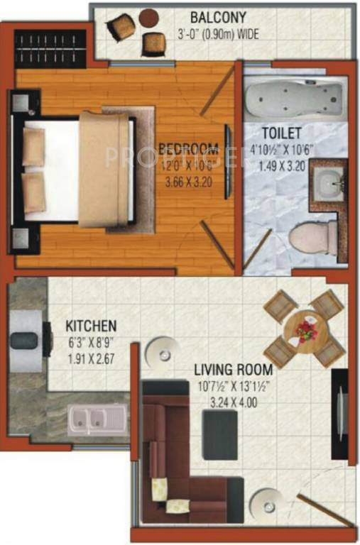 650 sq ft 1 bhk 1t apartment for sale in omson nature for 650 sq ft apartment floor plan