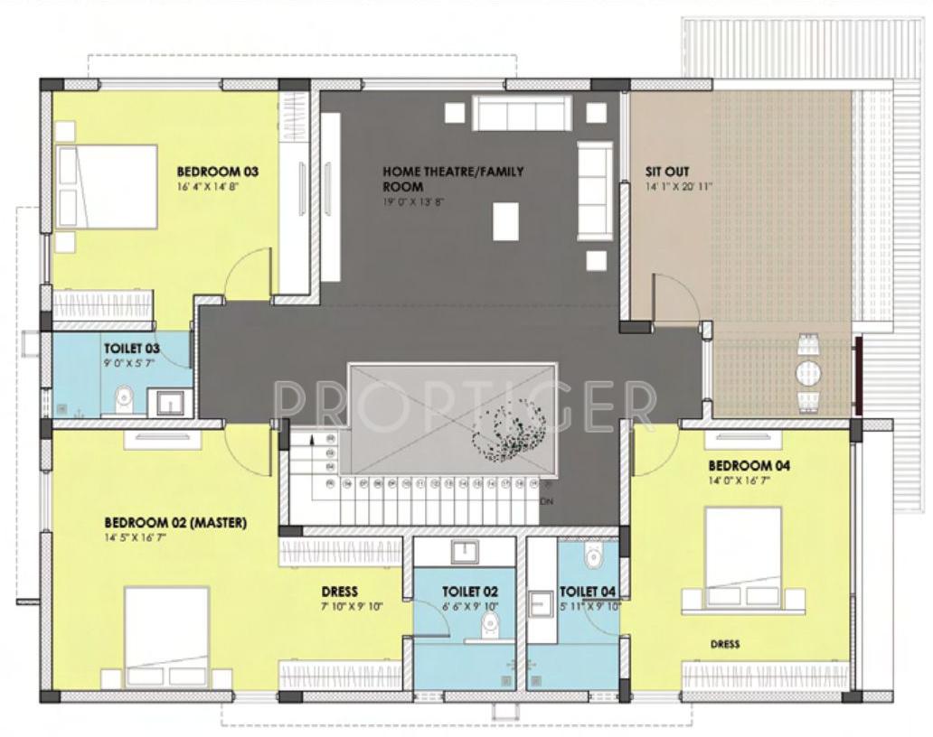 4150 sq ft 4 bhk 4t villa for sale in ashoka developers for Ashoka ala maison price