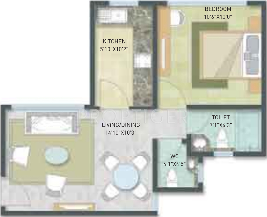 576 sq ft 1 bhk 1t apartment for sale in indiabulls for 576 sq ft floor plan