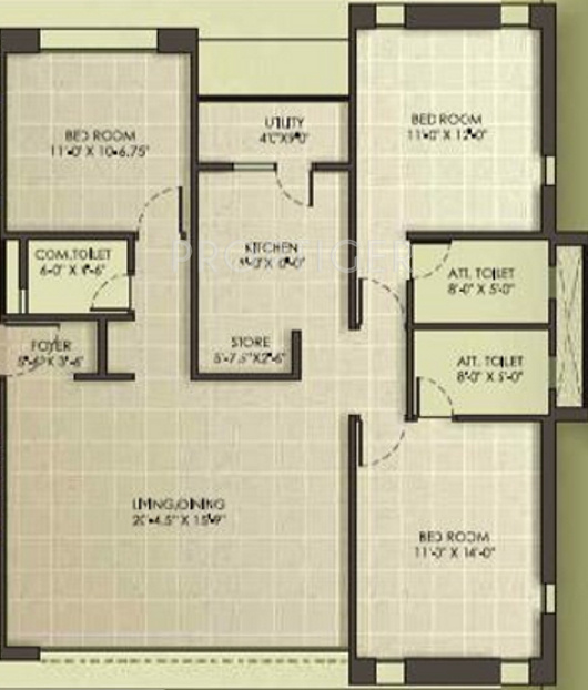 1900 sq ft 3 bhk 3t apartment for sale in vishranti group for 1900 sq ft