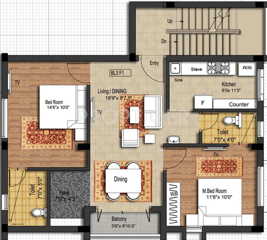 920 sq ft 2 bhk 2t apartment for sale in s g builders for 4 bhk plan layout